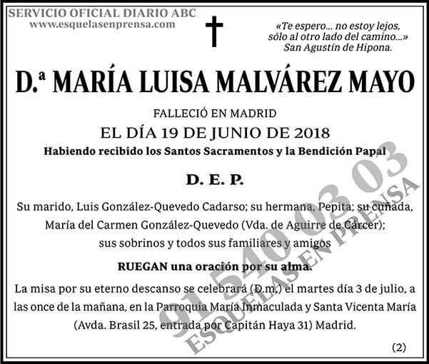 María Luisa Malvárez Mayo